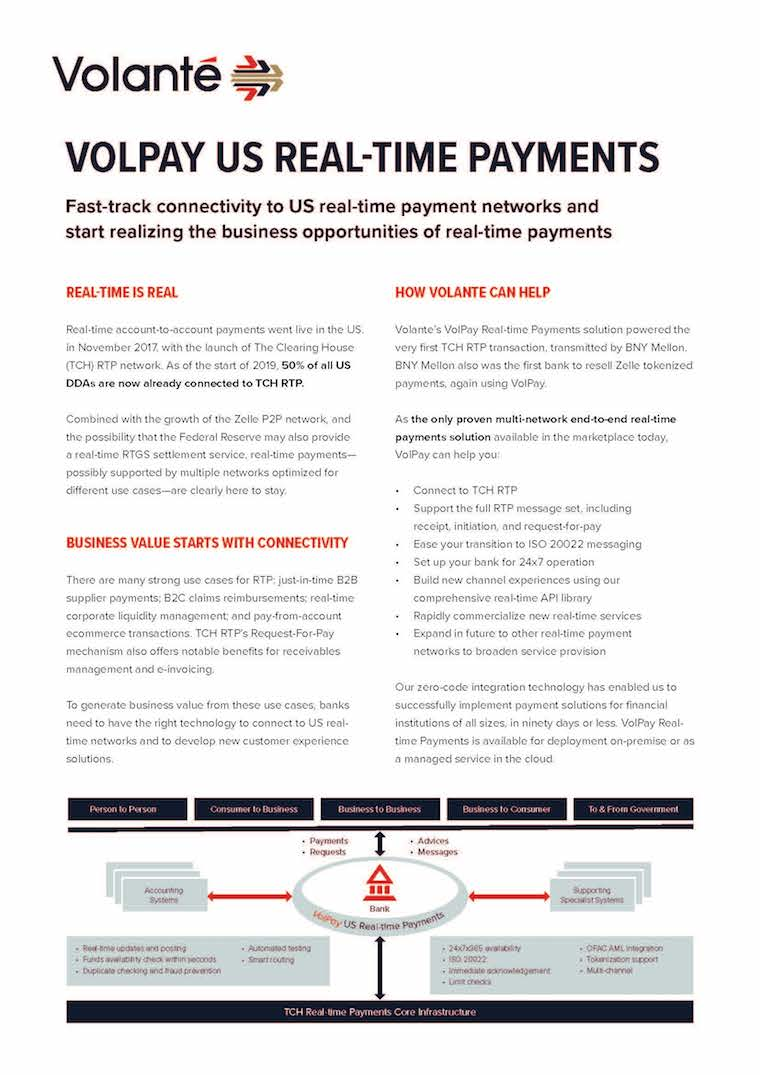 VolPay U.S. Real-time Payments