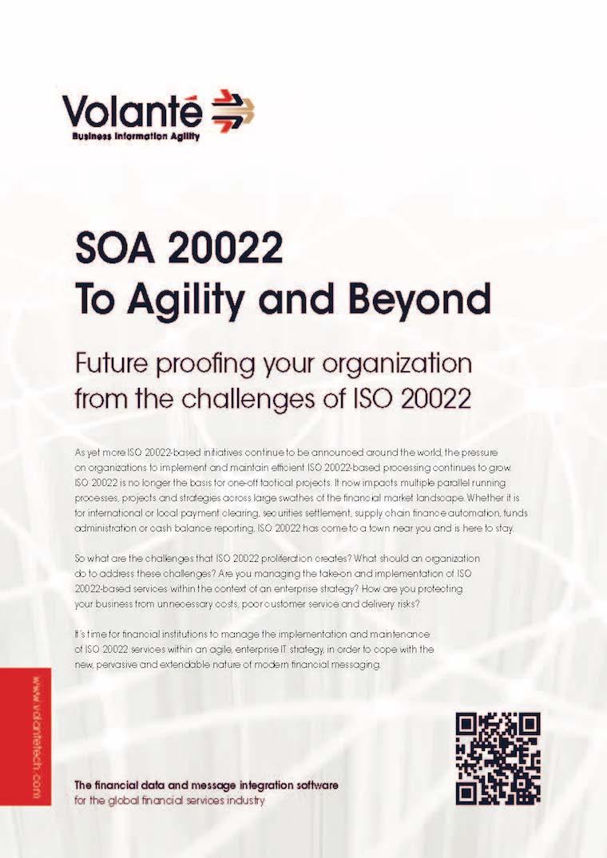 SOA 20022 To Agility and Beyond
