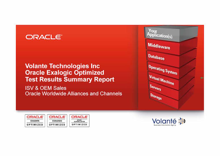 Oracle Exalogic Optimized Test Results Summary Report